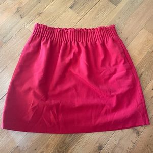J. Crew Red Skirt Size 8
